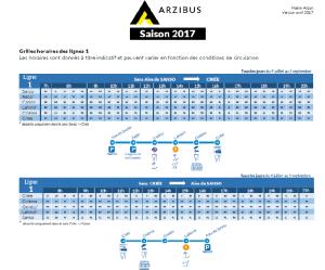 Arzibus horaires ligne 1